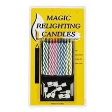 10 шт./упак. Свеча зажигания приколами розыгрыши трюки игрушки украшения для торта на день рождения