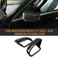 메르세데스 벤츠 c117 2013-2016 화이트 크롬에 대한 cla 클래스 교체 탄소 자동 사이드 미러 커버 모자