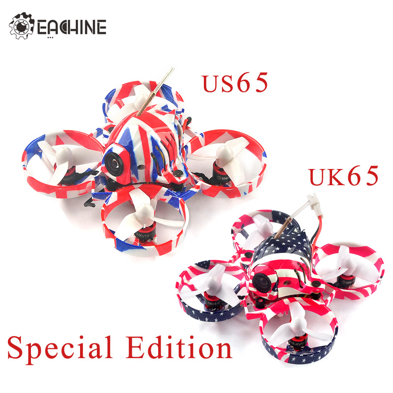 2018 New Eachine US65 UK65 65mm Whoop FPV Racing Drone BNF Crazybee F3 Flight Controller OSD 6A Blheli_S ESC RC Quadcopter micro minimosd minim osd mini osd w kv team mod for racing f3 naze32 flight controller