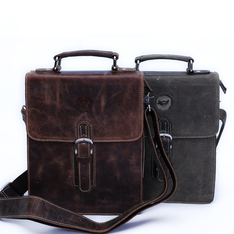Male genuine leather handbag messenger bag first layer of cowhide messenger bag vintage casual trend of the man bag #1239