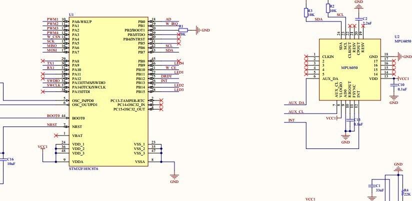 Shaft Rotor Code Stm32f103c8t6 Sch File Mpu6050 Nrf24l01