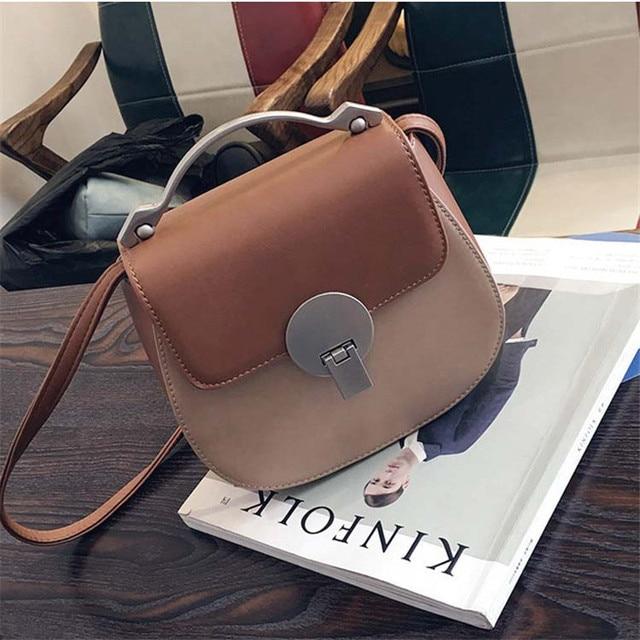 YBYT brand 2017 fashion flap patchwork saddle handbag hotsale women evening satchel pack lady shoulder messenger crossbody bags