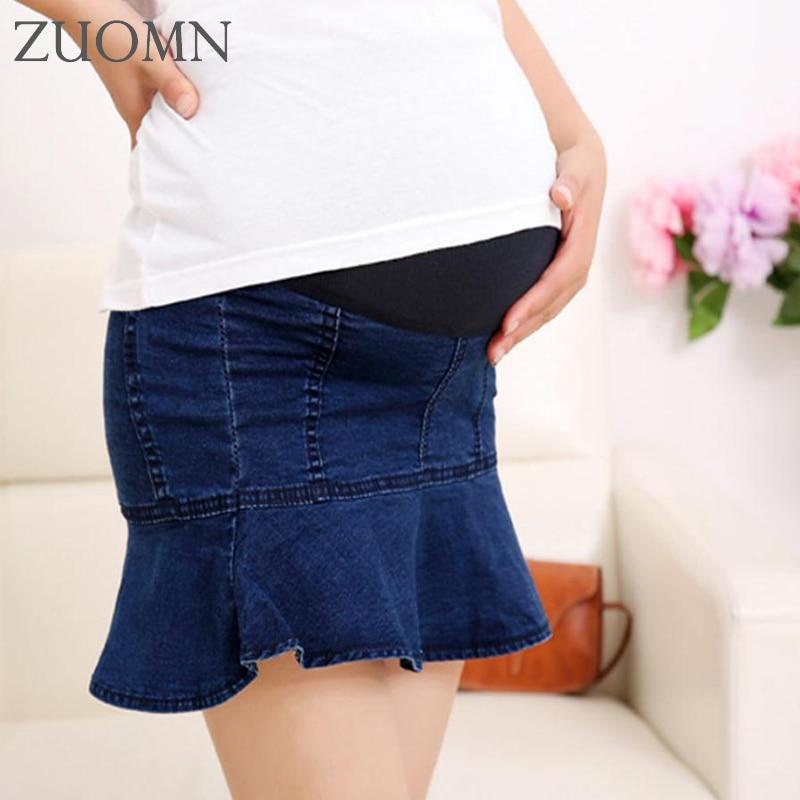Summer Maternity Skirt Package Hip Denim Skirt For Pregnant Women Maternity Short Belly Skirt For Pregnant Women YL669