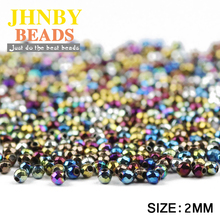 JHNBY AAA Faceted Round Black Hematite 2mm 300pcs Natural St