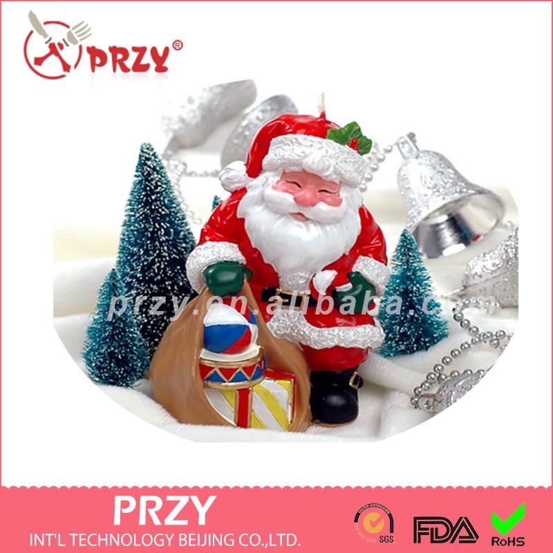 Újévi karácsonyi gyertyák születésnapi gyertyák szilikon formákkal készített ünnepi ajándékok party kellékek Mikulás ajándék penész új év