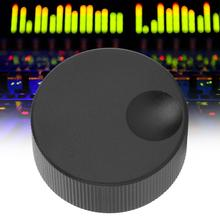 32x13mm Tone Volume Control Knob Black Frosted Solid Aluminum Knob for 6mm Potentiometer chic round neck sleeveless short day dress
