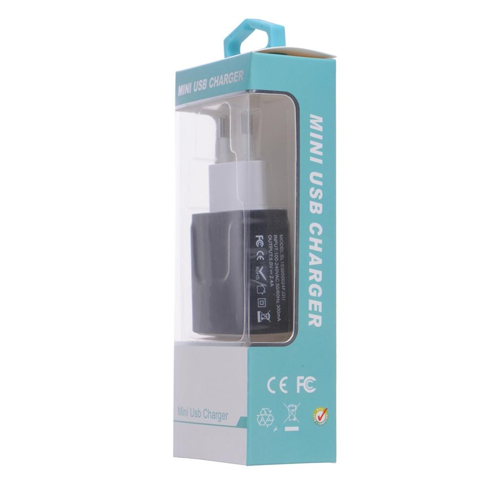 Oplader til telefonoplader 3.1A Dual USB-portvæg Hjemrejse - Mobiltelefon tilbehør og reparation dele - Foto 5