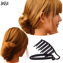 HBS015 Women DIY Formal Hair Styling Updo Bun hair accessory And Clip Tool Set For Hair French Twist Maker Holder women diy formal magic hair styling updo fast bun comb and clip tool set accessories for hair french twist maker holder buckle