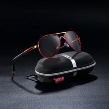 d50638548625a Proteção UV400 BARCUR 2018 óculos de Sol dos homens de Condução Óculos  Polarizados Óculos de Sol