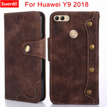 Luxury PU Leather Case For Huawei Y9 2018 Stand Kickstand Wallet Flip Case for Huawei Y9 2018 Cover for Huawei Y9 2018 capa