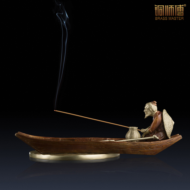 The fishing alone (sweet) all copper furnishing articles decoration The sitting room place