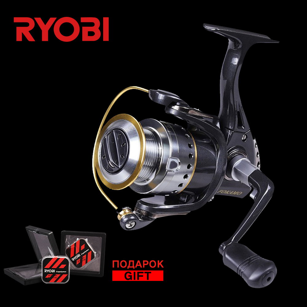 цена на RYOBI FOKAMO Vi 1000-4000 Full Metal Power Big Fish Spinning Reel Saltwater V-shaped Larger Spool Carp Wheel Spin Fishing Reels