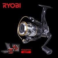 RYOBI FOKAMO Vi 1000 4000 Full Metal Power Big Fish Spinning Reel Saltwater V shaped Larger Spool Carp Wheel Spin Fishing Reels