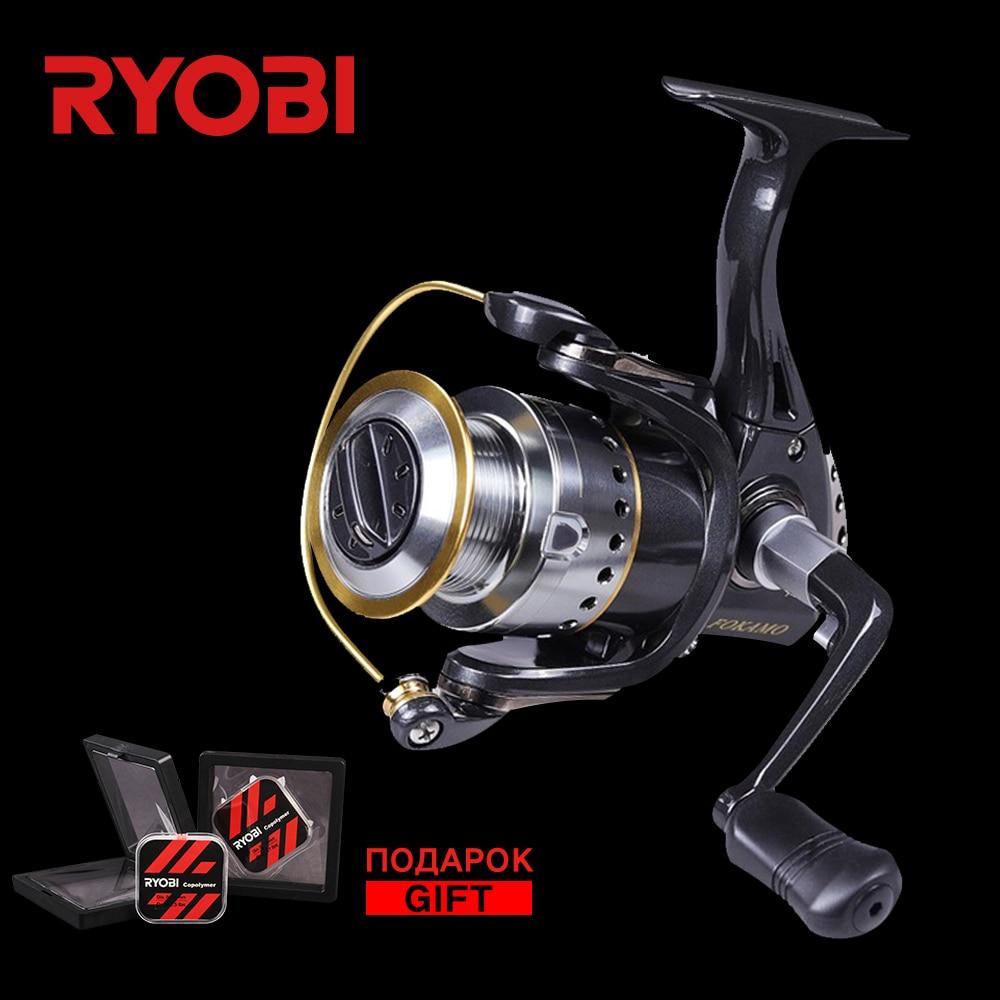 RYOBI FOKAMO Vi 1000-4000 Full Metal Puissance Gros Poissons Spinning Reel Saltwater V en forme de Plus Grande Bobine Carpe le Patinage des roues Moulinets De Pêche