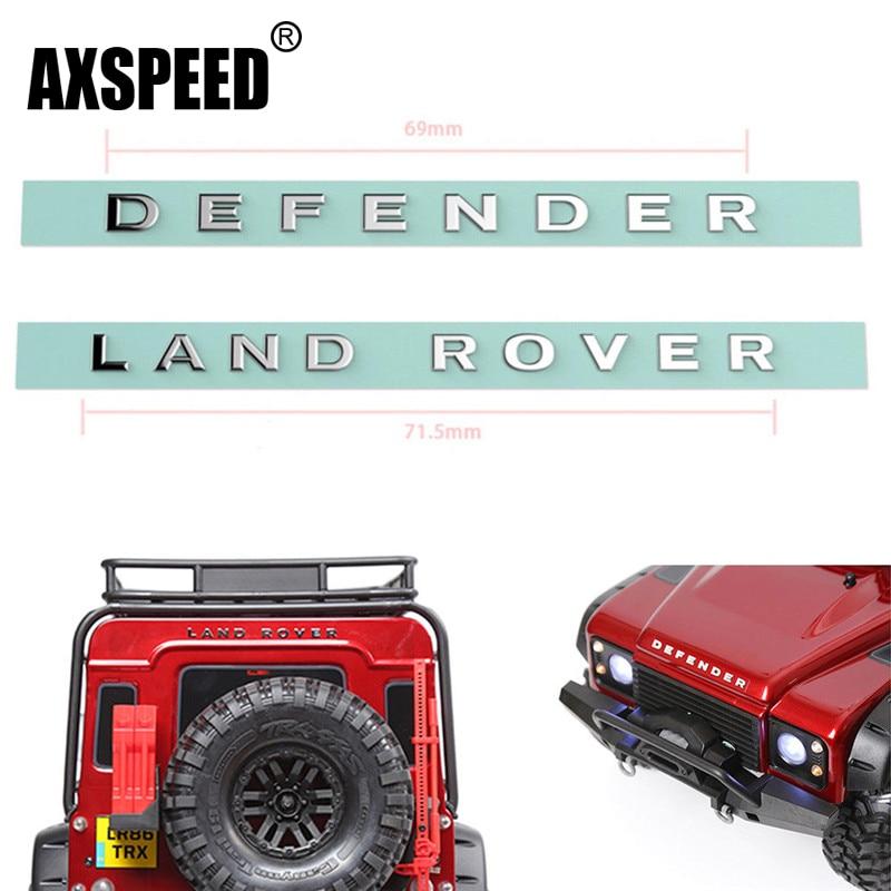 AXSPEED TRX4 LandRover Defender Metal Logo Label Sticker for 1/10 RC Crawler Traxxas TRX-4 Trx 4 RC4WD D90 D110 1 set landrover defender metal logo