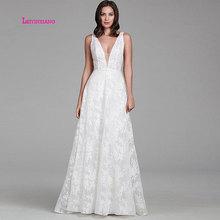 LEIYINXIANG New Arrival Bride Dress Wedding Vestido De Noiva Sereia Robe Sexy A-line Luxury Lace Elegant Appliques V-Neck