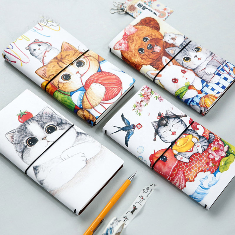 NEW Cute Diary Planner PU leather notebook paper 60 sheets Creative Trends hand book Travel Journal office school supplies gift