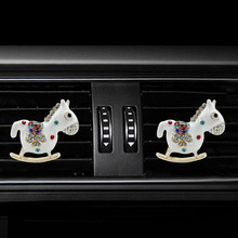 Inlay Water drill Horse car Air conditioning outlet perfume interior accessories fragrance