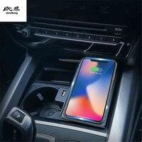 Автомобиль мобильный телефон Ци беспроводной зарядки Pad Модуль автомобильные аксессуары для BMW X5 F15 2016 2017 2018