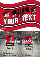 Portland Trailblazers Portland Trail Blazer Your Text Flag 3ft x 5ft Polyester NBA Garden Flag 13inx18in QingQing Flag Super Fan