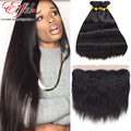 8A Brazilian Straight Hair Bundles With Lace Frontals 13X4 Brazilian Virgin Hair Straight Lace Frontal Closure With Hair Bundles