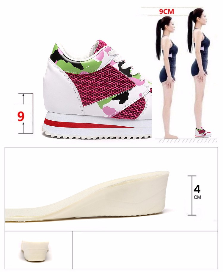 KUYUPP 2016 Fashion 4cm Hide Heels Women Casual Shoes New Breathable Mesh Flat Platform Women Shoes High Top Wedges Shoes YD108 (9)