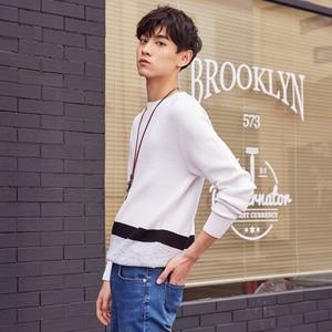 Image 3 - ¡Novedad! Jersey de punto de algodón de manga larga de otoño para hombre de Metersbonwe, ropa de alta calidad