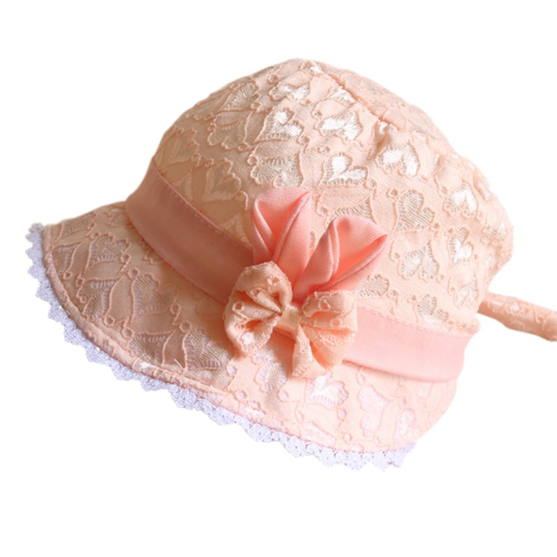 Adjustable hats for baby gils New European and American hat baby girl lace cap summer mesh children cap hot sell