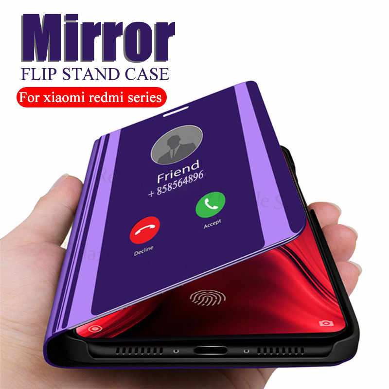 Case For Xiaomi mi 9t Redmi k20 pro Mirror Flip stand cover For xiaomi redmi note 7 6 5 pro xiomi xaomi 4a 6a s2 Luxury coque