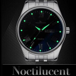 Image 3 - Montre bracelet pour hommes et femmes reste tactile, pour amoureux daffaires, montres de luxe, pied deau à Quartz, cadeaux de mariage