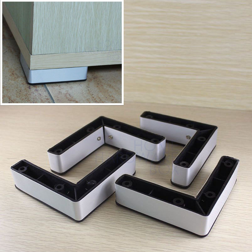 furniture leg cabinet base aluminum plastic corner l feet 4 100mm in casters from home. Black Bedroom Furniture Sets. Home Design Ideas