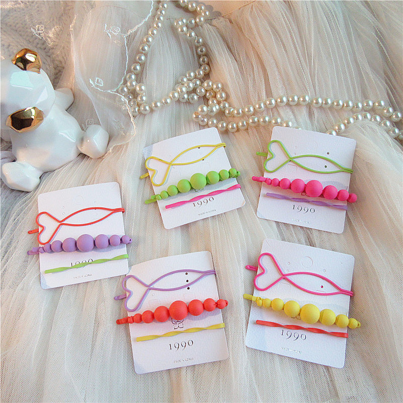 3 Pcs Korea Simple Exquisite Candy Color Matte Imitation Pearl Hairpins Girl Women Fashion Beautiful Colorful Hair Accessories