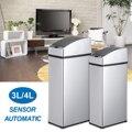 3L/4L Universal Smart afvalbak touchless sensor automatische vuilnisbak mini keuken Rvs prullenbak Tafel afvalbak