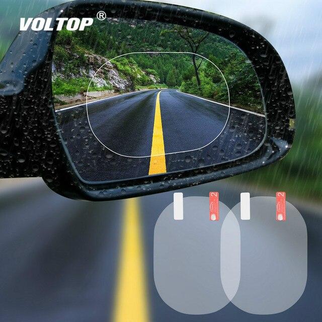 2PCS/Set Car Sticker Anti Fog Car Rearview Mirror Protective Film Car Mirror Window Clear Film Membrane Waterproof Car Decal