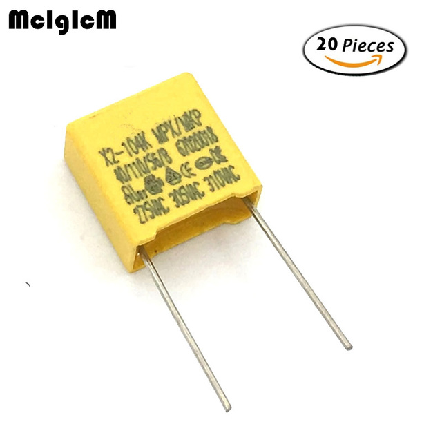 aliexpress com buy mcigicm 20pcs 100nf capacitor x2 capacitor
