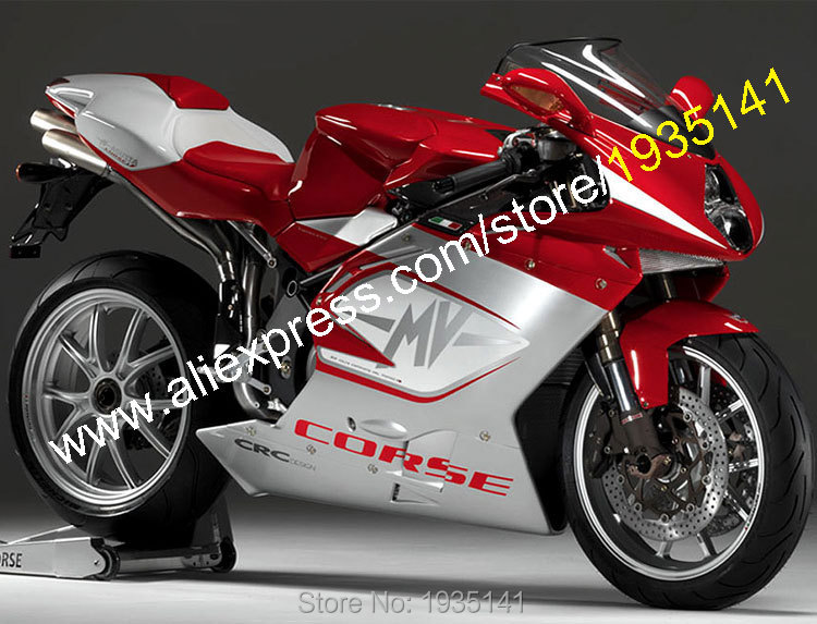 Hot Sales,For MV Agusta 1+1 F4 1000 ABS Accessories 2005 2006 MV Agusta F4 1000 05 06 Sportbike Red Silver Motorcycle Fairings hot sales for mv agusta abs plastic fairings 1 1 f4 1000 body kit 2005 2006 mv agusta f4 1000 05 06 red balck motorcycle cowling