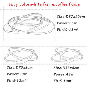 Image 5 - Surface Mounting Rings Modern Led Ceiling Light For Living Room Bedroom Dining room Luminaires Led Ceiling Lamp Lighting Fixture