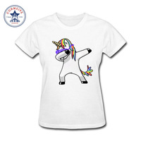 2017 Newest Fashion Girl S Funny Dabbing Unicorn Panda Pug Cat Cartoon Cotton Funny T Shirt