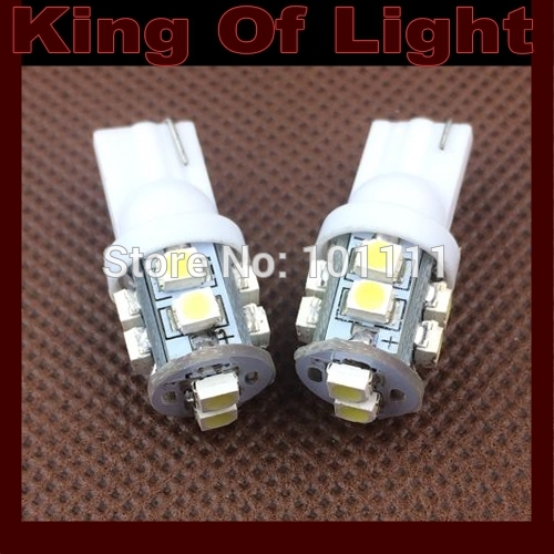 1000X w5w 194 T10 10 leds SMD 3528 t10 10smd Wedge Car Auto LED Light Bulb Lamp White blue yellow green red free shipping