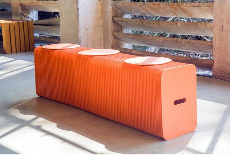 Мебель для дома современный дизайн складной табурет из бумаги длинная скамейка диван стул крафт бумага расслабляющий стул для ног скамейка