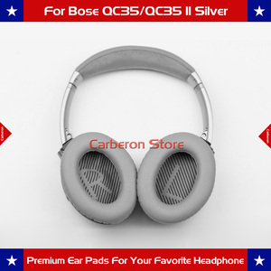 Image 5 - Replacement Ear Pads Ear Cushions for Bose QC35/QC35 II Headphone with QC35 Scrims with L and R(Silver Grey)