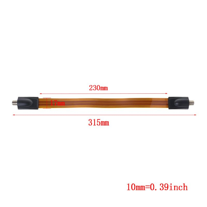 Image 3 - Flat Coaxial Cable Female F Connector Pass Home/ Car WINDOW DOOR Satellite Antenna TV-in TV Antenna from Consumer Electronics