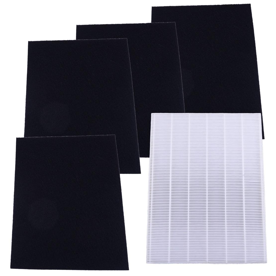 LETAOSK 5pcs HEPA & Carbon Pre Filters Set Fit For Winix 115115 WAC5300 WAC5500 WAC6300 Air Purifier P300 U300 9500 9000 WAC9500