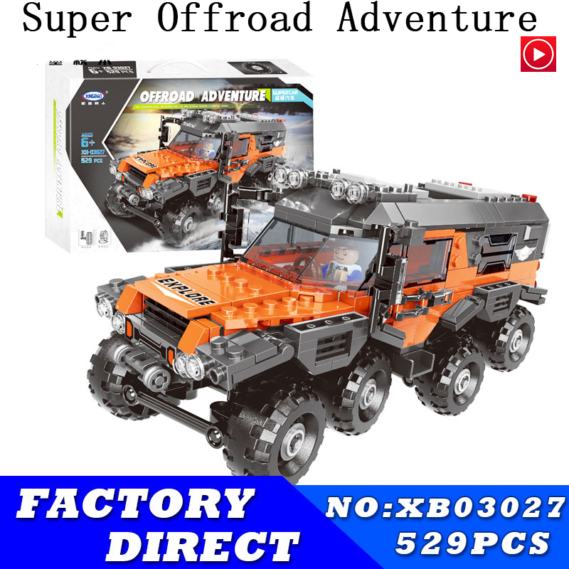 city Lepins Car Series The All Terrain Vehicle Set Building Blocks Bricks Toys For Kids Educational Funny birthday gifts