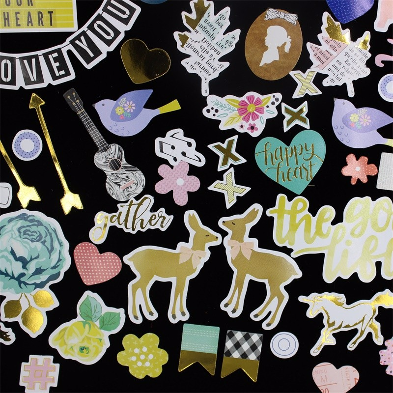 Good Life Foil Paper Die Cuts for DIY Scrapbookingphoto album Decoration Card Making Crafts 55pcs