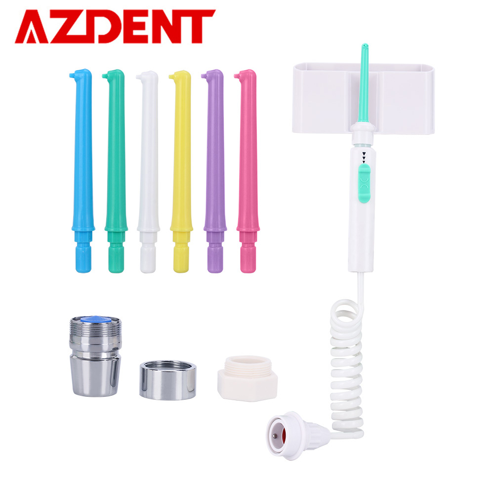 AZDENT New 6pc Tips Oral Irrigator Faucet Dental Floss Water Jet Flosser Implement Irrigation Tooth Cleaner Multi-jet Nozzles azdent top spa dental flosser oral irrigator faucet water jet floss tooth cleaner replacement nozzle tips for oral teeth whiten