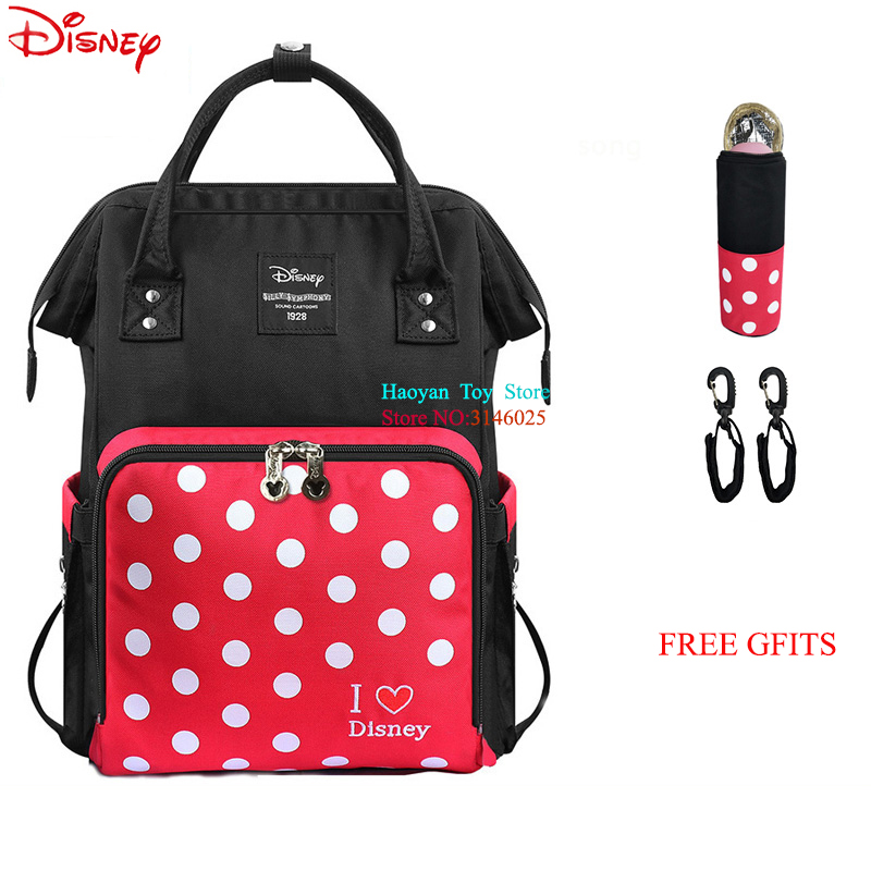 Responsible Hot Disney Minnie Mickey Bag Diaper Mummy Bag Women Cosmetic Set Wallet Purse Baby Care Travel Bags 6 Pcs Girls Gift Diaper Bags