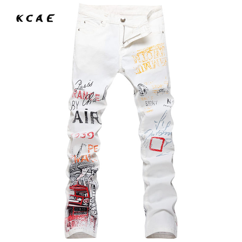 High Quality 3D Printed Jeans Men Fashion Denim Mens Jeans 2017 New Brand Elastic Skinny Jeans Casual Men Clothing high quality 3d printed biker jeans for men fashion denim mens jeans new famous brand elastic skinny jeans casual men clothing