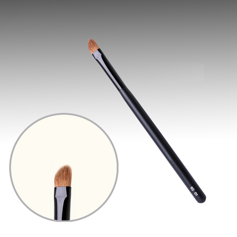 6S01 Professional Makeup Brushes Weasel Hair Angle Eye Shadow Brush Black Handle Cosmetic Tools Blending Make Up Brush 7e08 professional makeup brushes weasel hair eye shadow blending brush black handle cosmetic tools smoky eye make up brush