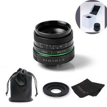 New green circle 35mm APS-C CCTV camera lens For Canon EOS M / M2 / M3 with C-eosm adapter ring +bag+gift +big box free shipping